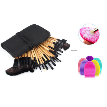 Aplauzums Suka Komplekts ar Brush Cleaner 32Pcs Fonds Sārtums Acu Pulveris Sukas, Kosmētikas Soma pincel maquiagem Make Up Otu Komplekts