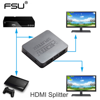 HDCP 4K HDMI Splitter Full HD 1080p Video HDMI Switch Komutatoru 1X2 Bd 1 2 Out Pastiprinātājs Duālais Displejs HDTV DVD PS3 Xbox