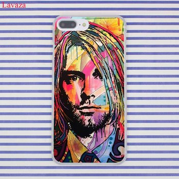 Lavaza Nirvana Kurt Cobain Cietos vākos Gadījumā par Apple iPhone 8 7 6 6S Plus 5 5S SE 5C 4 4S X 10 Coque Shell